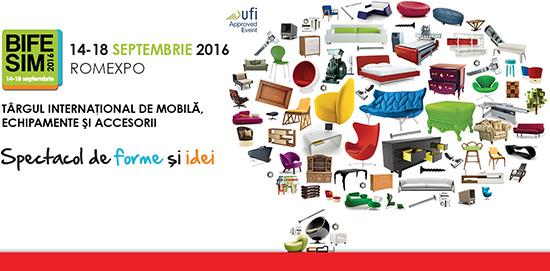 BIFE-SIM 2016, cel mai mare targ de mobila, echipamente si utilaje pentru industria mobilei din Romania