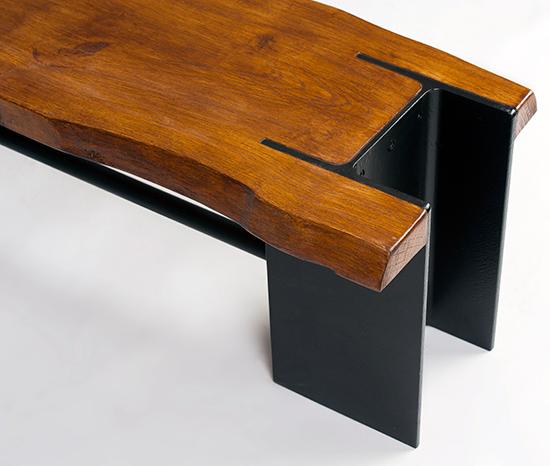 banca-lemn-si-profil-metalic-stil-industrial