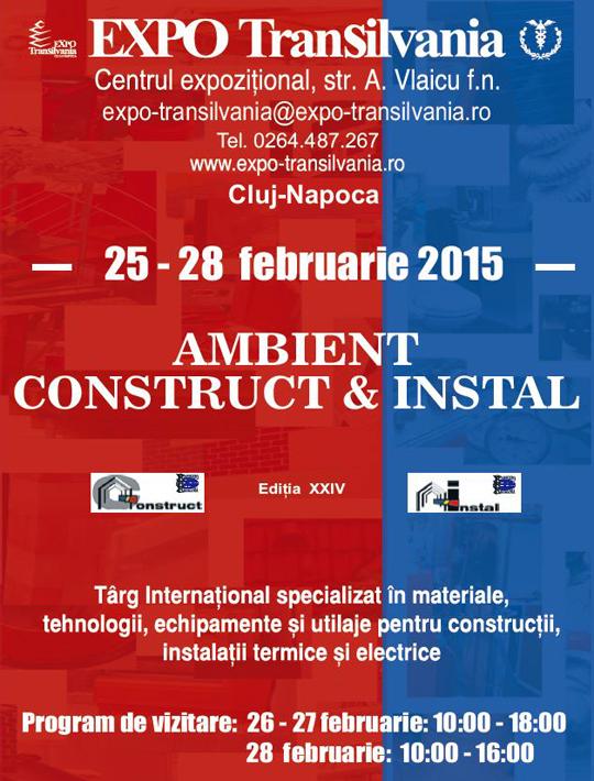 EXPO Transilvania: AMBIENT CONSTRUCT & INSTAL 2015 - Targul specializat in constructii si instalatii