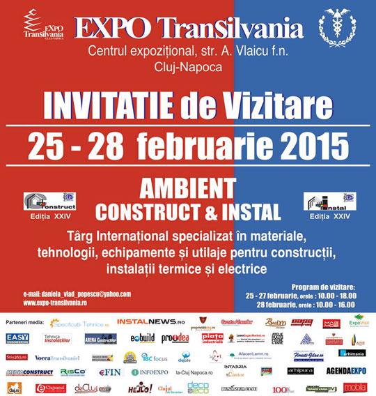 Invitatie vizitare Targul Ambient Construct & Instal, Februarie 2015
