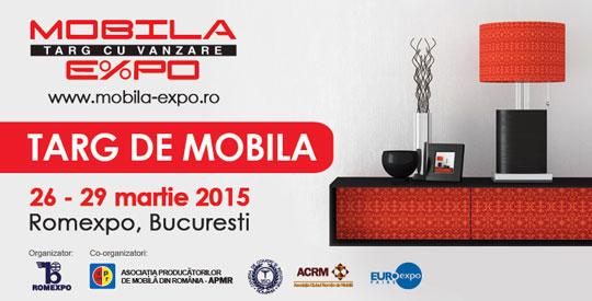 MOBILA EXPO, Targ de mobila cu vanzare, Romexpo, 26-29 Martie 2015