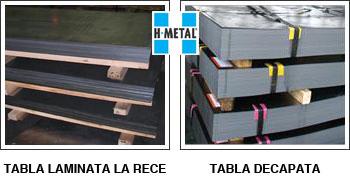 Tabla laminata la rece & Tabla decapata, H-Metal