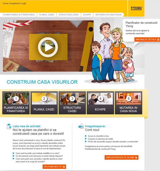 ytong platforma online Construimcasa.ro - planificator de constructii