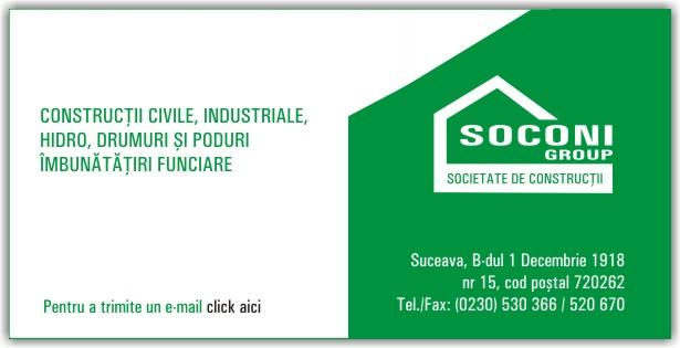 Firma Soconi Group. Descriere si informatii de contact.