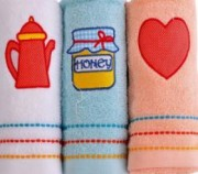 Set de 3 mini prosoape din bumbac Altinbasak - Honey
