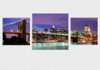 Tablouri canvas set 3 piese - New York City