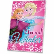Patura fleece pentru copii Disney Frozen Eternal Winter 100 x 150 cm EWA07219B