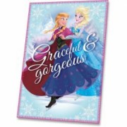 Patura fleece pentru copii Disney Frozen Graceful and Gorgeous 100 x 150 cm EWA07220B