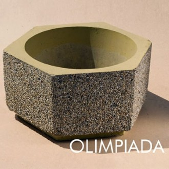 Ghiveci hexagonal din beton model G3