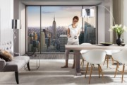 Fototapet urban ''Penthouse''  vlies de la firma Arbex Art Decor